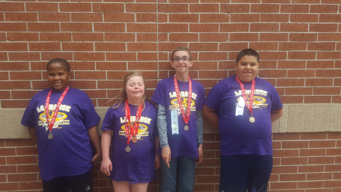 Middle School Special Olympics winners