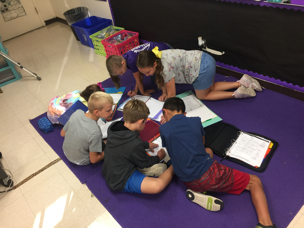 4th graders hard at work.