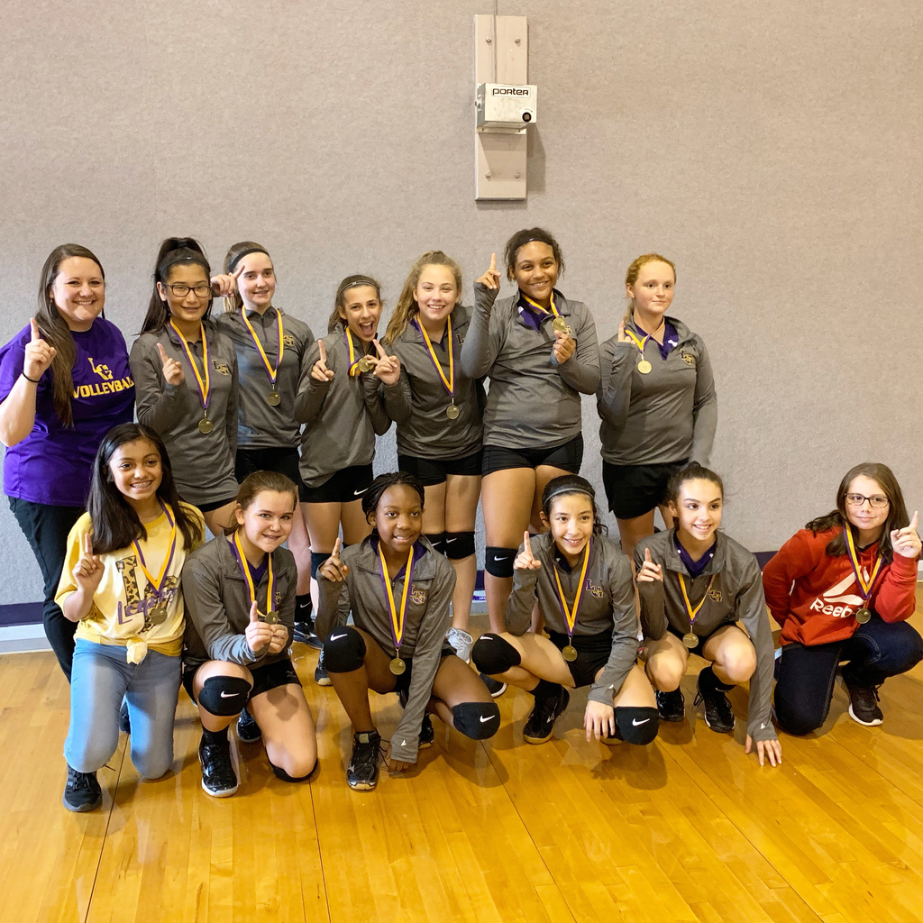 7th Grade A team won 1st Place in the Weimar Volleyball Tournament today!