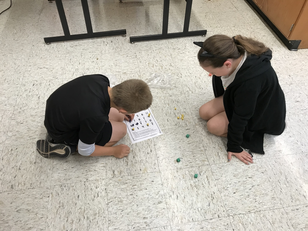Students are playing Addition Bump, and even created additional rules to make the game more challenging!