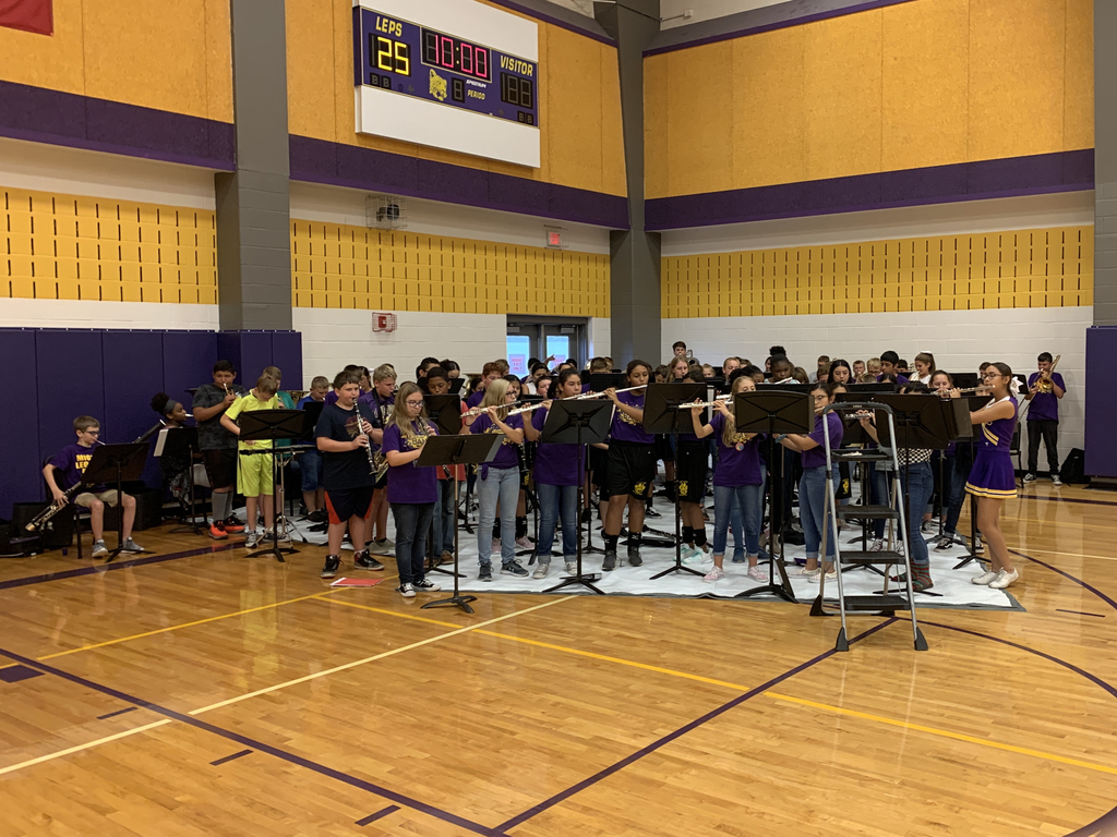 LMS Band Plays at First Pep Rally