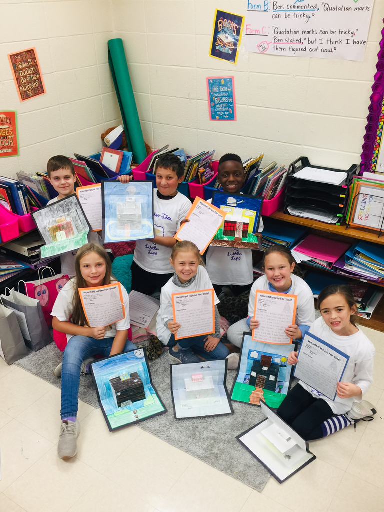 Mrs. Pietsch's 4th graders wrote all about their haunted houses for sale.