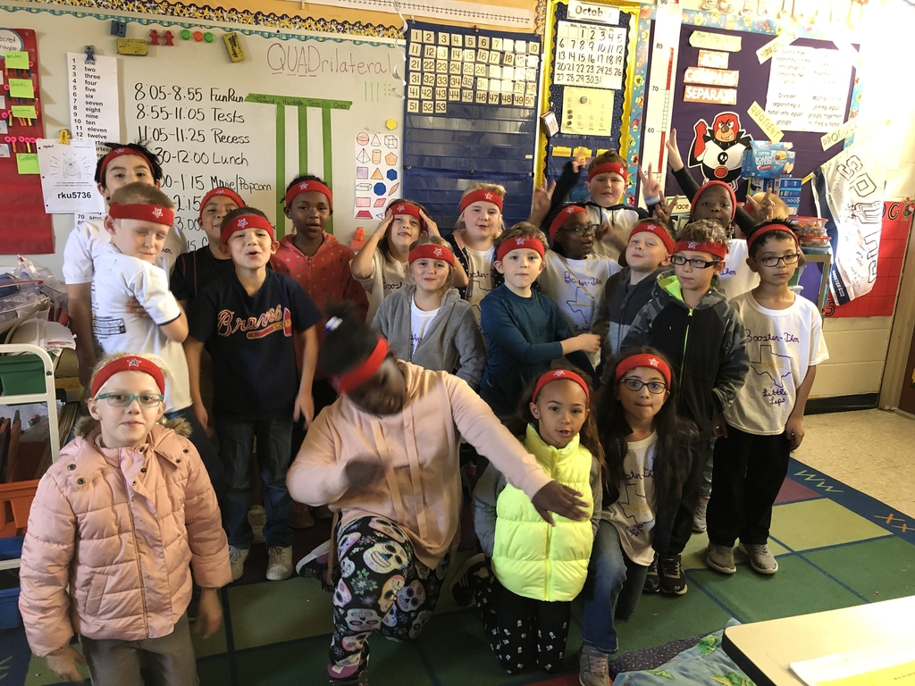 Sporting our Boosterthon headbands!