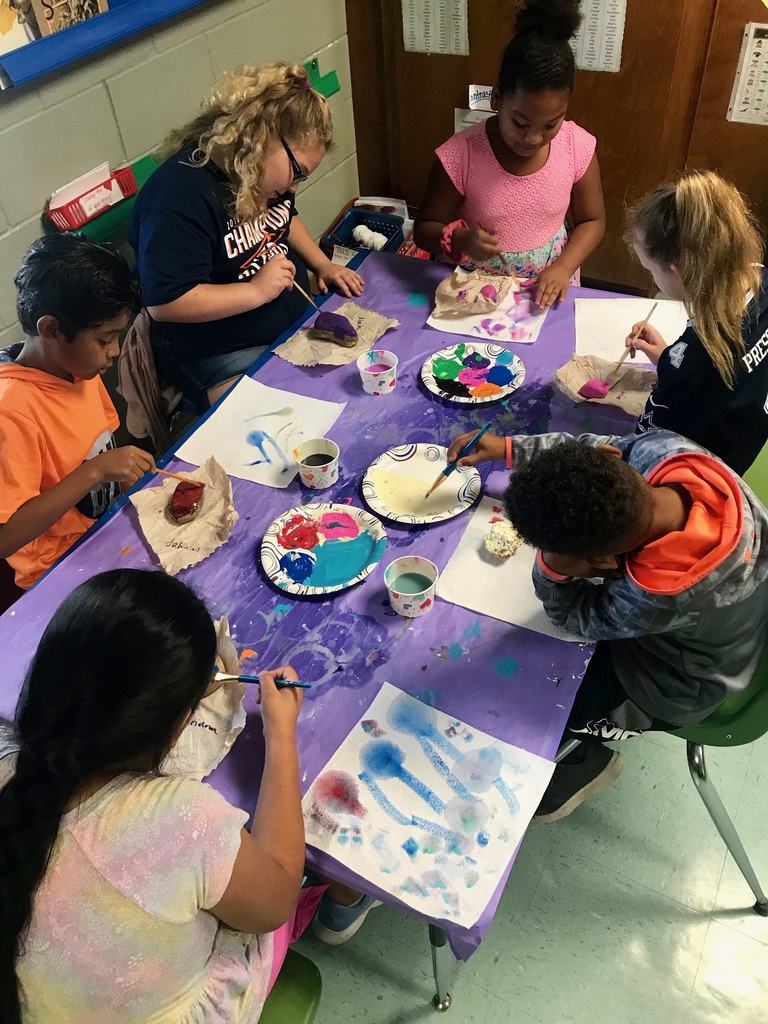 Painting Rocks for World Kindness Day