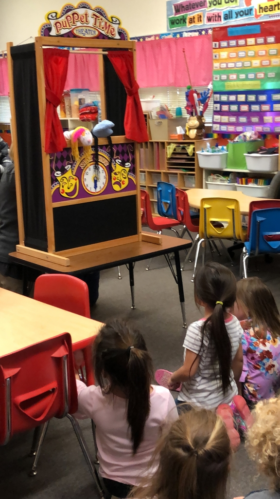 The pre-k students laughed at the puppets jokes.
