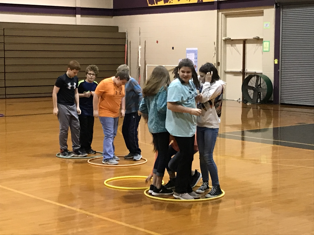 """Elf Express"" hula hoop relay working as a team"