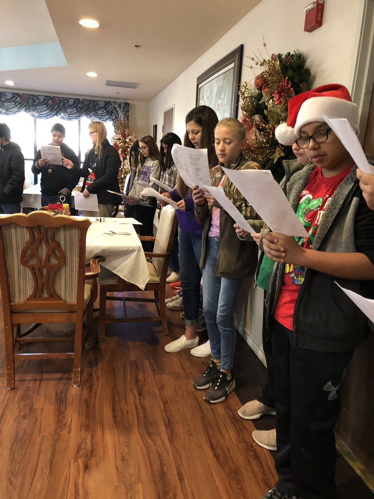 6th Graders Singing for Care Inn Residents