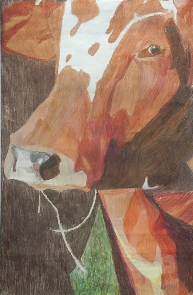 "Junior High Best of Show: ""Martha May Eatin' Hay"" by Eleanor Carey(6th Grade)"
