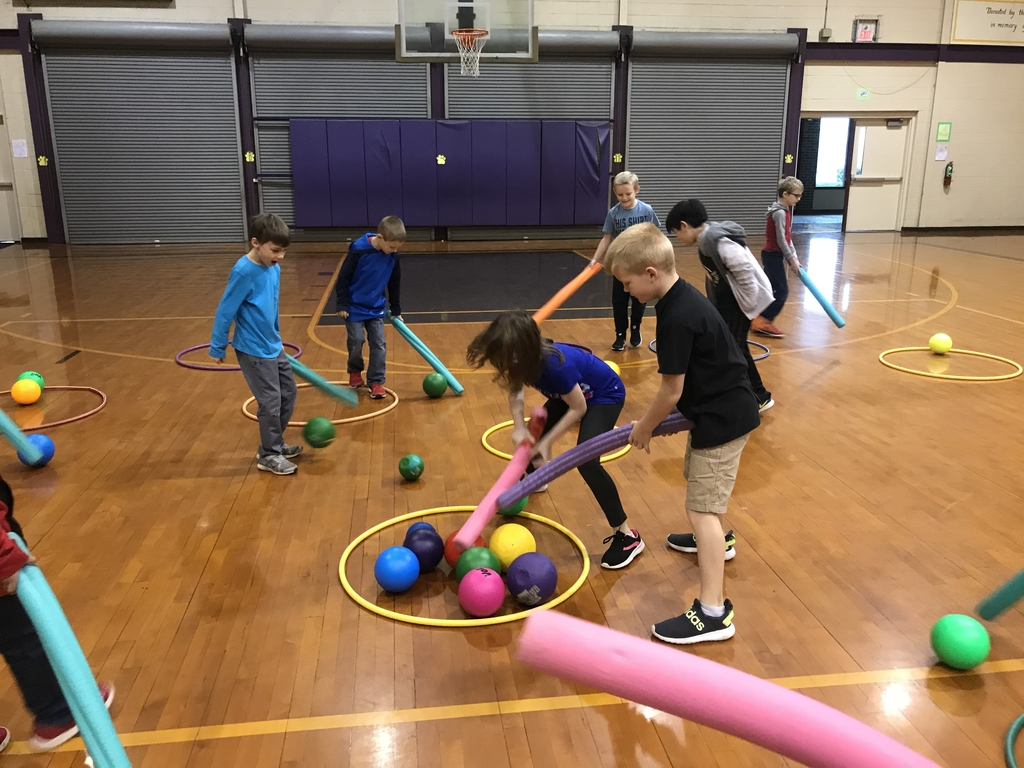 Spaghetti and Meatball activity in 2nd gr. PE