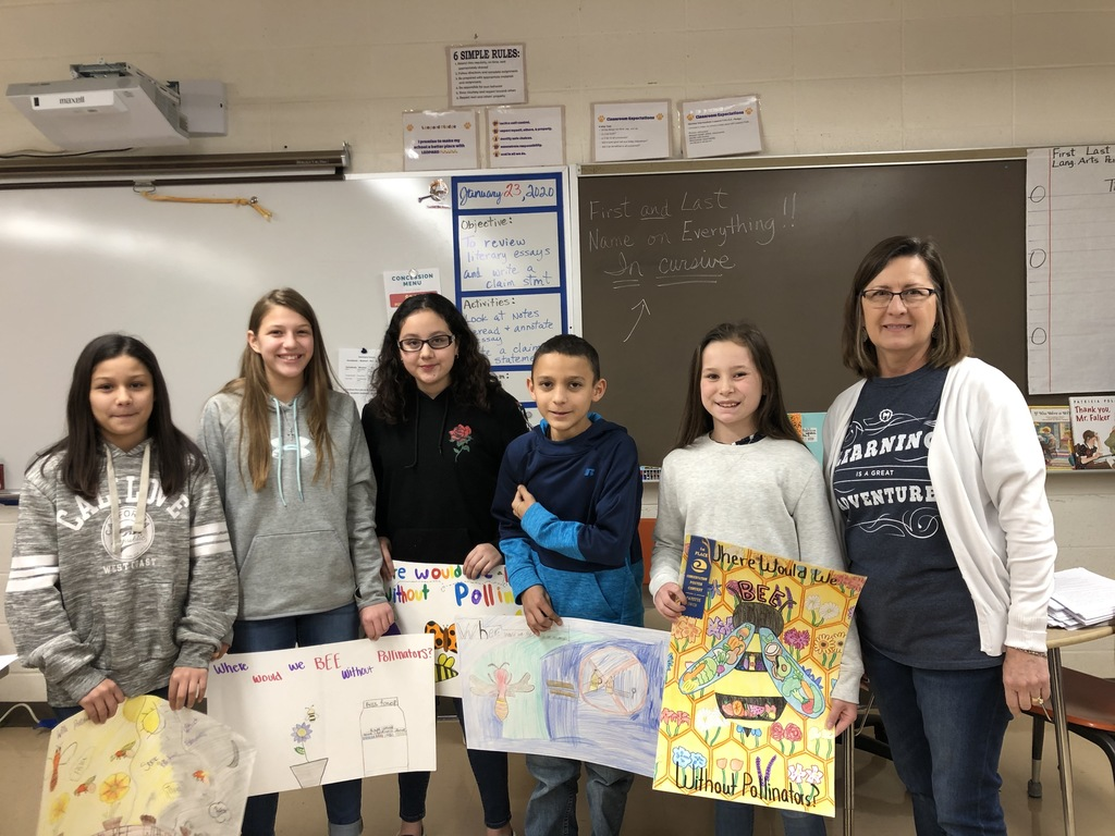 Happy faces! Eleanor got 1st place on her poster and wins a gift certificate and trophy. She and her family also get to attend a banquet where she will read her essay to the crowd. The essay will then go on to the next level of competition. Congratulations Eleanor!