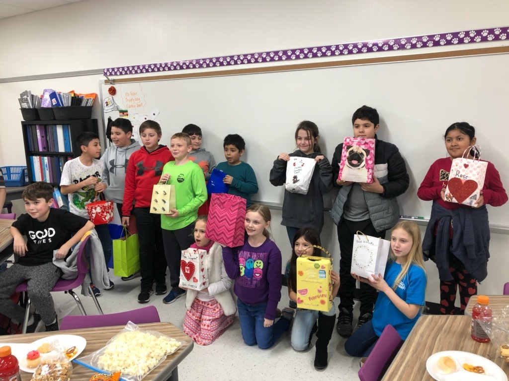 Mrs. Johnson's 4th grade Valentine's Day party!